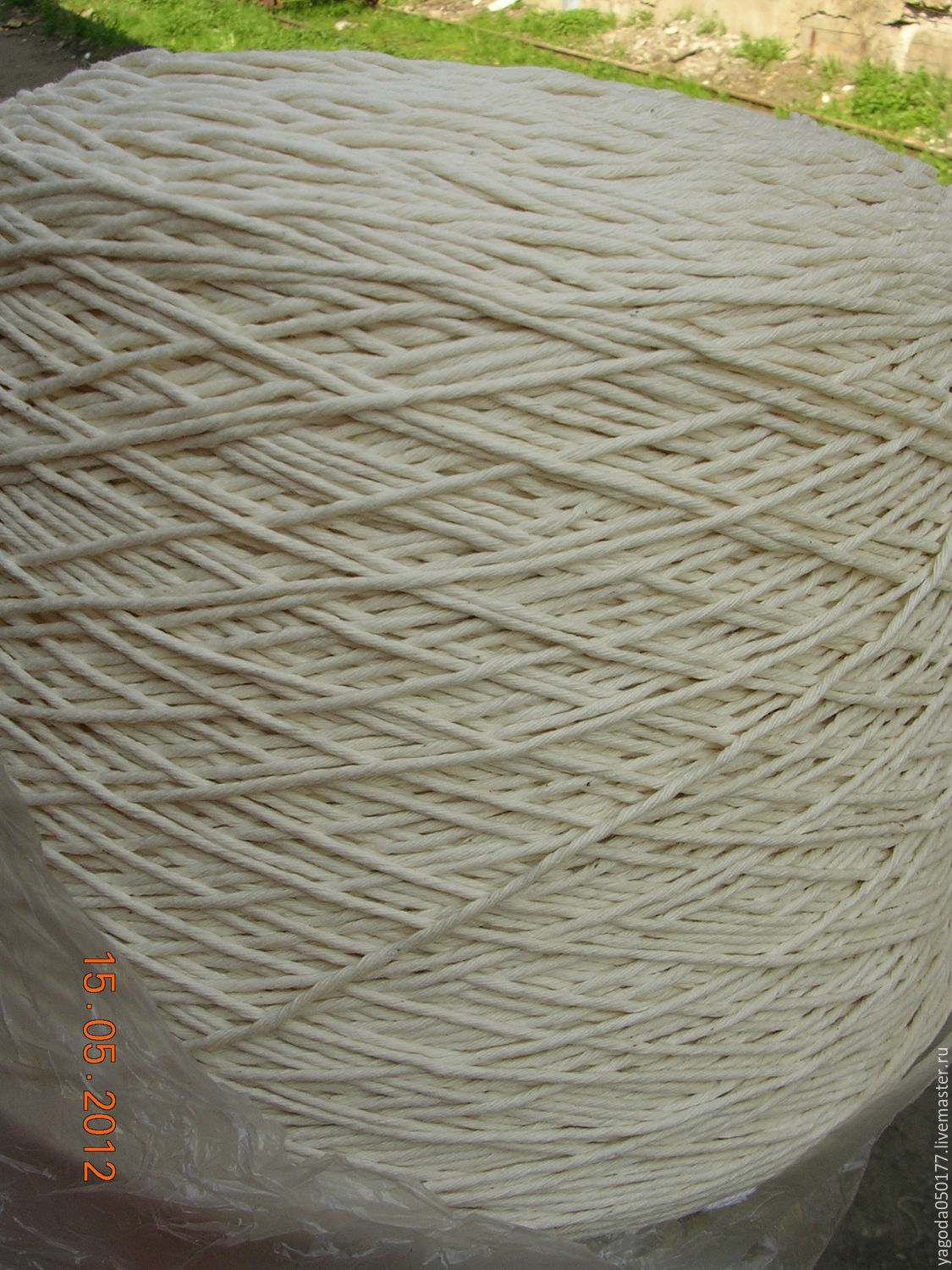 The yarn is cotton.in the reels.for knitting carpet, Yarn, Kaluga,  Фото №1
