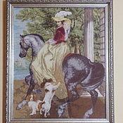 Всадница картина брюллова вышивка крестом 47