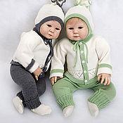 Работы для детей, ручной работы. Ярмарка Мастеров - ручная работа Вязаный костюм Нарядный-2 для новорожденных. Handmade.