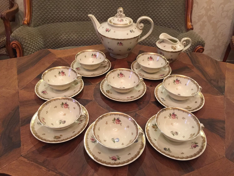 Винтаж: Винтаж: Чайный сервиз Limoges на 8 персон – купить на Ярмарке Мастеров – JHIMKRU | Сервизы винтажные, Калининград