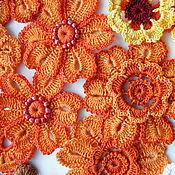 Одежда ручной работы. Ярмарка Мастеров - ручная работа Вязаное крючком платье  Ирландское кружево  Август-звезды. Handmade.