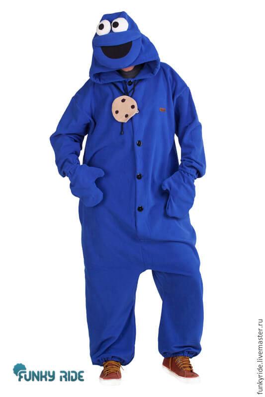 Cookie Monster Sesame Street TV show Kigurumi - Custom Handmade, Cosplay costumes, Magnitogorsk,  Фото №1