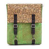 Сумки и аксессуары manualidades. Livemaster - hecho a mano Eco mochila de madera mujer verde hecho a mano. Handmade.