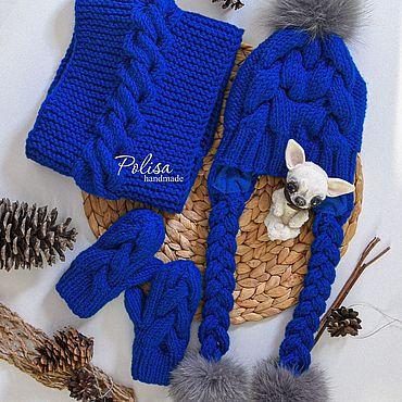 Товары для малышей ручной работы. Ярмарка Мастеров - ручная работа Зимняя шапка снуд и варежки. Handmade.