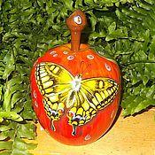 Для дома и интерьера handmade. Livemaster - original item Box Apple Souvenir Painting on wood. Handmade.