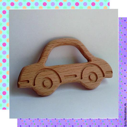 Развивающие игрушки ручной работы. Ярмарка Мастеров - ручная работа. Купить Деревянный  грызунок(с рисунком) -Машинка. Handmade. Деревянные заготовки