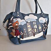 Сумки и аксессуары handmade. Livemaster - original item Leather bag. Bag bag Winter in the big city. Handmade.