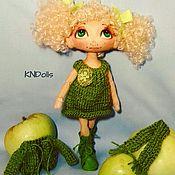 """Куклы и игрушки ручной работы. Ярмарка Мастеров - ручная работа Кукла текстильная ручной работы """"Люблю зелёный"""". Handmade."""