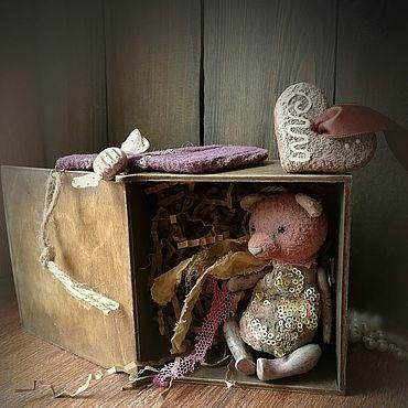 Dolls & toys handmade. Livemaster - original item Miniature toys: bear in a box. Handmade.