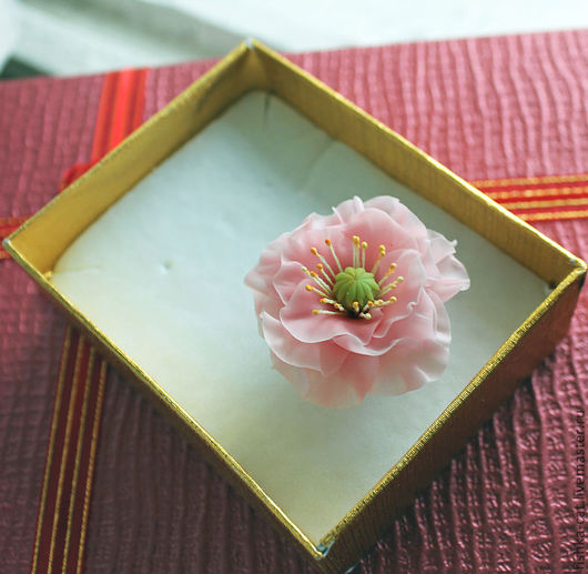 """Кольца ручной работы. Ярмарка Мастеров - ручная работа. Купить Кольцо """"Нежный пион"""". Handmade. Розовый, розовый цветок"""