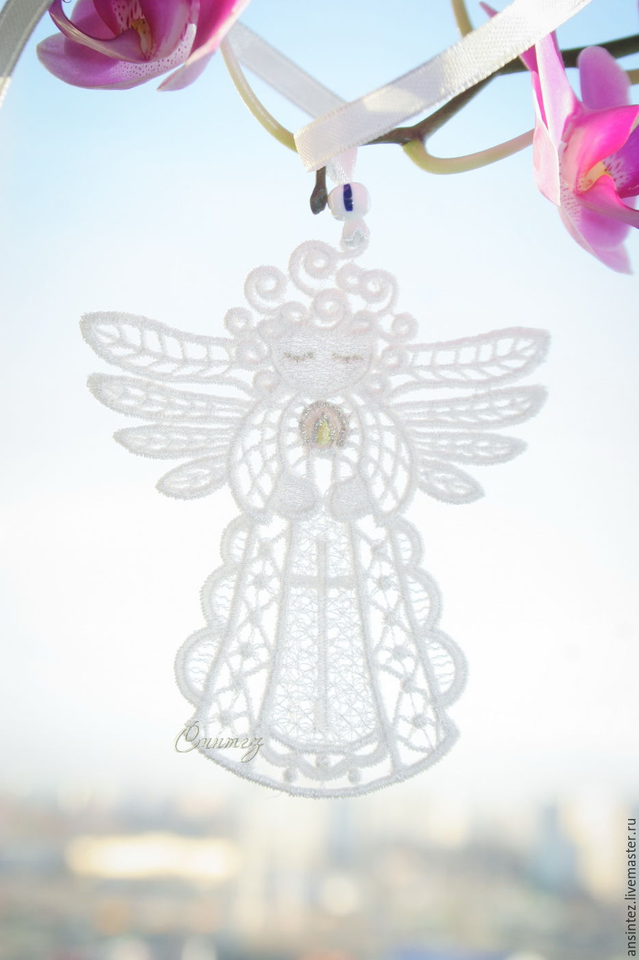 Angel with candles for happiness pendant 10pcs, Pendants for pots, Moscow,  Фото №1