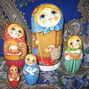 """Русский стиль ручной работы. Ярмарка Мастеров - ручная работа матрешка деревянная """"Подарок крестнице"""". Handmade."""
