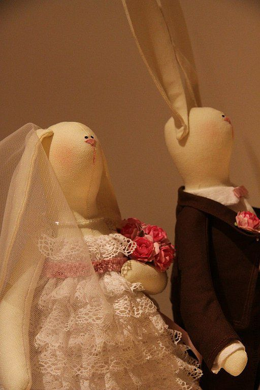 Куклы Тильды ручной работы. Ярмарка Мастеров - ручная работа. Купить Свадебные зайцы. Handmade. Тильда заяц, подарок женщине