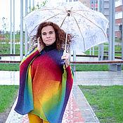 Одежда ручной работы. Ярмарка Мастеров - ручная работа Вязаный женский свитер из шерсти кауни радуга. Handmade.