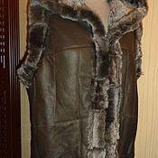 Одежда ручной работы. Ярмарка Мастеров - ручная работа Жилеты с капюшоном из натурального меха. Handmade.