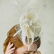 Свадебный салон ручной работы. Ярмарка Мастеров - ручная работа Белая шляпка для скачек. Handmade.
