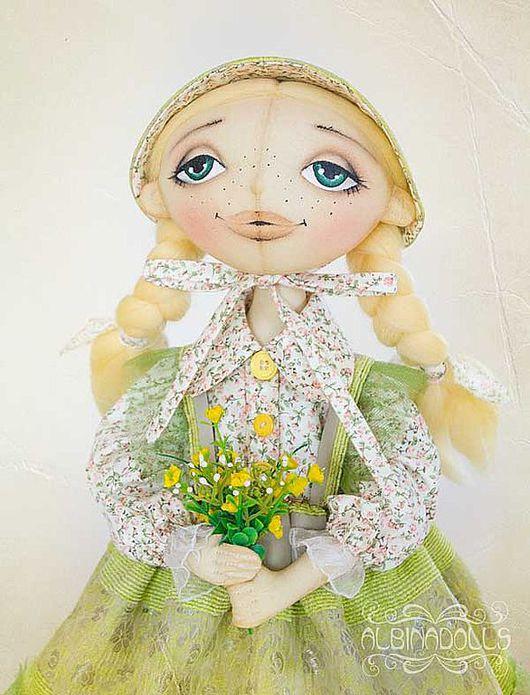 Коллекционные куклы ручной работы. Ярмарка Мастеров - ручная работа. Купить Текстильная кукла Мартина. Handmade. Кукла, Тонированная бязь