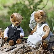 Куклы и игрушки ручной работы. Ярмарка Мастеров - ручная работа Свадебные мишки тедди. Жених и невеста.. Handmade.