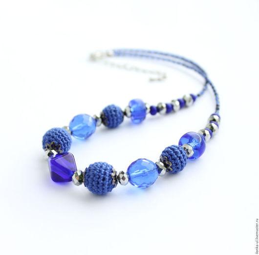 Колье, бусы ручной работы. Ярмарка Мастеров - ручная работа. Купить Ожерелье Ультрамарин. Handmade. Синий, ожерелье, тёмно-синий