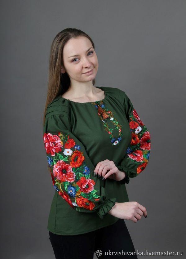 """Женская вышитая блуза """"Пламенный вихрь"""", Блузки, Львов, Фото №1"""