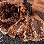 Материалы для творчества ручной работы. Ярмарка Мастеров - ручная работа Кружевной набор 393 вышивка на сетке шебби ленты набор с кружевом. Handmade.