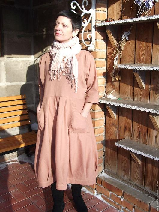 """Платья ручной работы. Ярмарка Мастеров - ручная работа. Купить Платье """"Парижские тайны""""(бохо,лён). Handmade. Кремовый, бохо"""