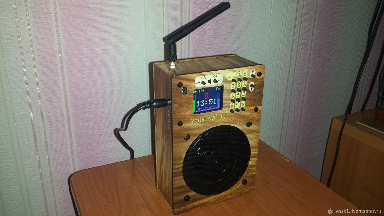 Экстерьер и дача ручной работы. Ярмарка Мастеров - ручная работа. Купить ИР-550. Интернет-радиоприёмник с круглым динамиком, без пульта. Handmade.