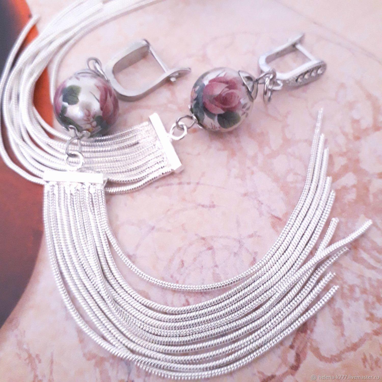 Earrings 'Delicate Sakura', Earrings, Slavyansk-on-Kuban,  Фото №1