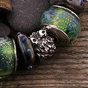 """Украшения ручной работы. Ярмарка Мастеров - ручная работа """"Чернушка"""" серебряная бусина для браслетов. Handmade."""