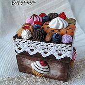 Для дома и интерьера ручной работы. Ярмарка Мастеров - ручная работа шкатулка со сладостями ягодная. Handmade.
