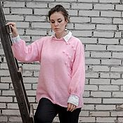 Одежда handmade. Livemaster - original item Sweater hand-knitted,mohair,big size