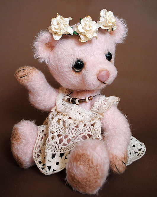 Мишки Тедди ручной работы. Ярмарка Мастеров - ручная работа. Купить нежно-розовая мишка  Венди. Handmade.