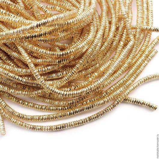 Вышивка ручной работы. Ярмарка Мастеров - ручная работа. Купить Канитель трунцал 3 мм четырехгранный, К-3, золото. Handmade.