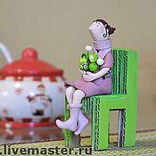 """Куклы и игрушки ручной работы. Ярмарка Мастеров - ручная работа Кукла """"Глафира с цветами"""". Handmade."""