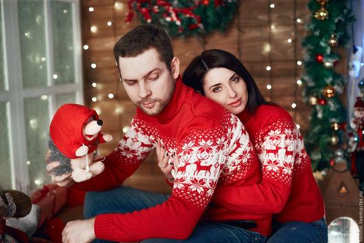 Кофты и свитера ручной работы. Ярмарка Мастеров - ручная работа. Купить Свитера для пары. Handmade. Комбинированный, парные свитера