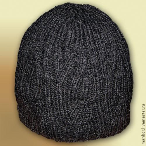 Для мужчин, ручной работы. Ярмарка Мастеров - ручная работа. Купить Мужская шапка. Handmade. Шапка мужская, теплая шапка