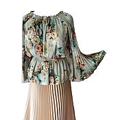 Одежда ручной работы. Ярмарка Мастеров - ручная работа Блузка вольного размера. Handmade.
