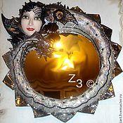 Дизайн и реклама ручной работы. Ярмарка Мастеров - ручная работа дизайнерское зеркало в скульптурной раме  Дракон. Handmade.