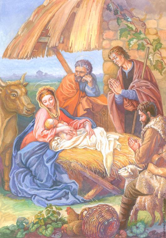 Люди, ручной работы. Ярмарка Мастеров - ручная работа. Купить Рождество Христово. Handmade. Библейский сюжет, подарок на рождество