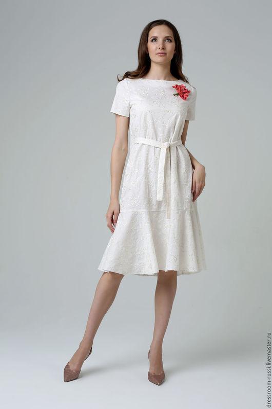 Платья ручной работы. Ярмарка Мастеров - ручная работа. Купить Платье из шитья.. Handmade. Белый, дизайнерская одежда, платье на праздник