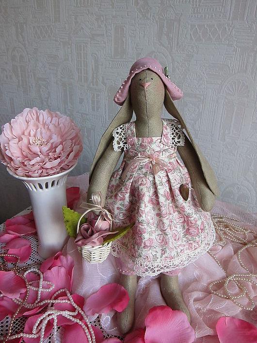 """Куклы Тильды ручной работы. Ярмарка Мастеров - ручная работа. Купить Тильда-зайка """"Розовое безе"""". Handmade. Тильда"""