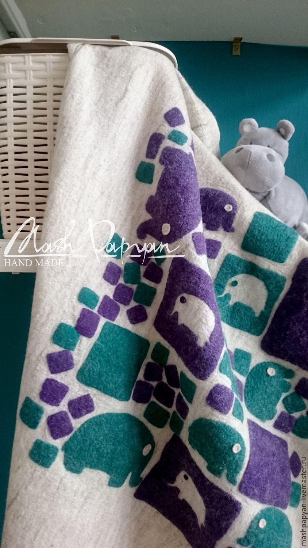 """Валяное детское одеяло """"Дамбо"""", Жилеты, Ереван, Фото №1"""