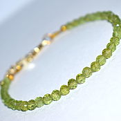 Украшения handmade. Livemaster - original item Bracelet with natural peridot. Handmade.