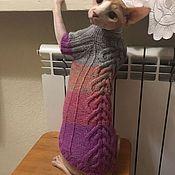 handmade. Livemaster - original item Purple Mist sweater for animals. Handmade.