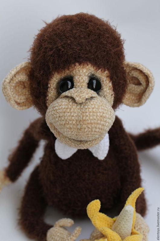 Игрушки животные, ручной работы. Ярмарка Мастеров - ручная работа. Купить Яшик - настоящий обезьян!. Handmade. Коричневый, полиэстер
