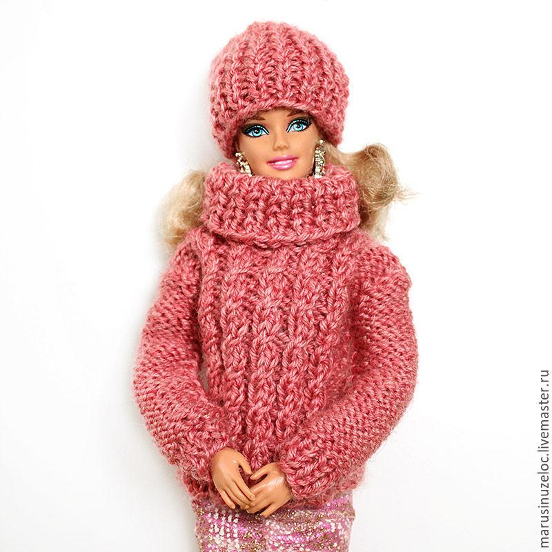 Одежда для кукол ручной работы. Ярмарка Мастеров - ручная работа. Купить Одежда для куклы барби свитер для куклы барби одежда для кукол розовый. Handmade.