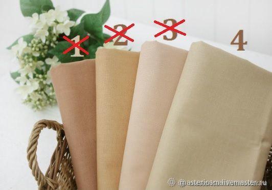 Ткань для тела кукол. Хлопок Корея 100% 55 х 45 см, Ткани, Краснодар,  Фото №1