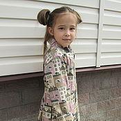 Работы для детей, handmade. Livemaster - original item Linen coat