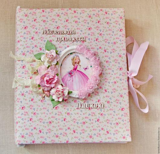 """Подарки для новорожденных, ручной работы. Ярмарка Мастеров - ручная работа. Купить Альбом для девочки """"Маленькая принцесса Милана"""". Handmade."""
