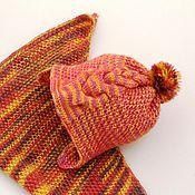 """Работы для детей, ручной работы. Ярмарка Мастеров - ручная работа Детская вязаная шапка """"Цвета осени"""". Handmade."""